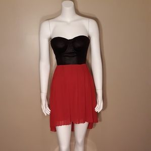 Material Girl Black/Red Dress